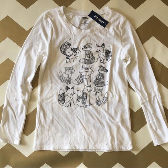 06041eacb Old Navy Shirts & Tops | Kids Fox Tee Shirt | Poshmark
